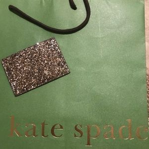 Kate Spade Graham Card Holder Glitter